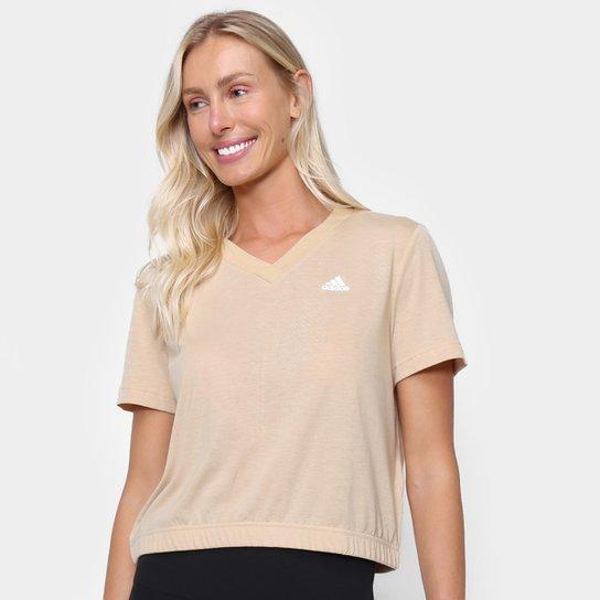Camiseta Adidas Dance Feminina - Bege+Branco