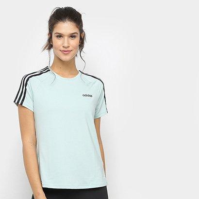 Camiseta Adidas Design 2 Move 3-Stripes Feminina