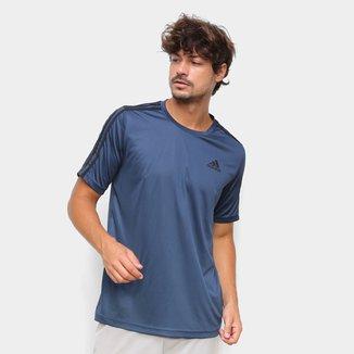 Camiseta Adidas Designed to Move Sport 3 Listras Masculina