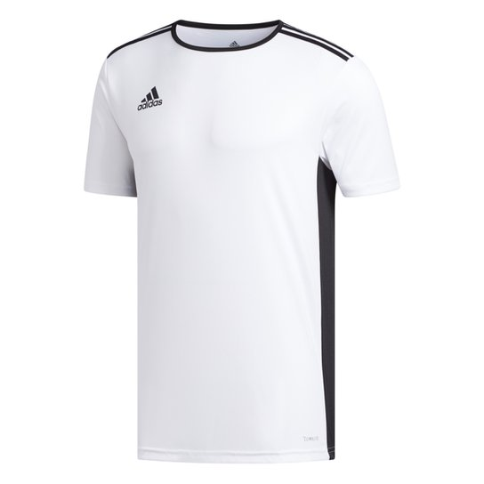 Camiseta Adidas Entrada 18 Masculina - Branco+Preto