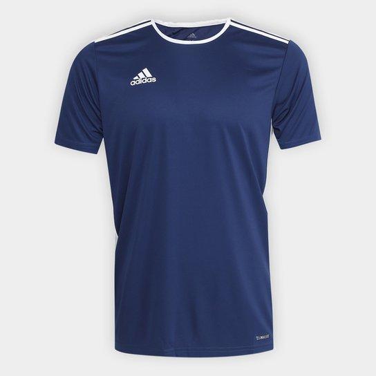 Camiseta Adidas Entrada 18 Masculina - Marinho+Branco