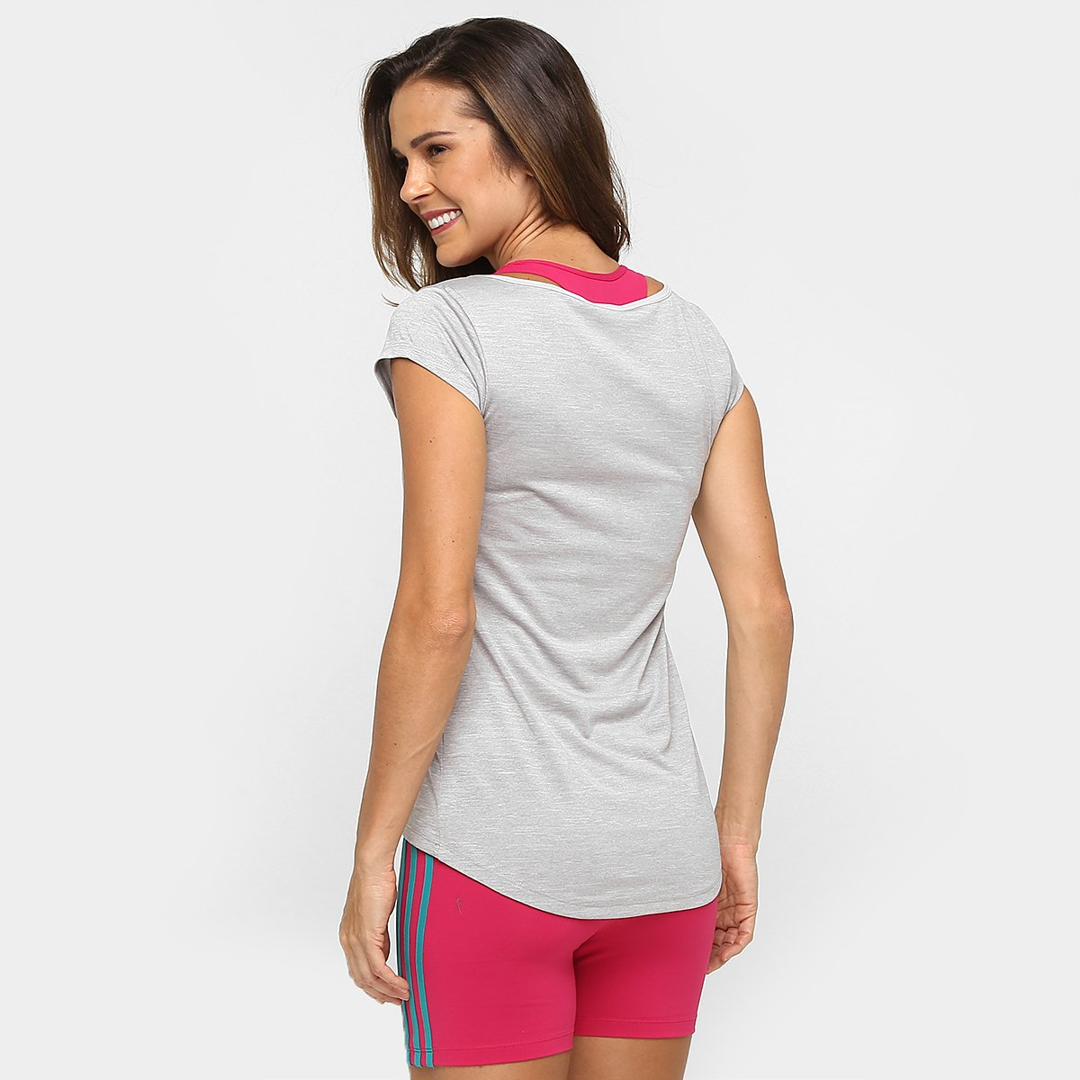 Mescla Camiseta Adidas Camiseta Ess Cinza Feminina Adidas Clima wqqpXHr
