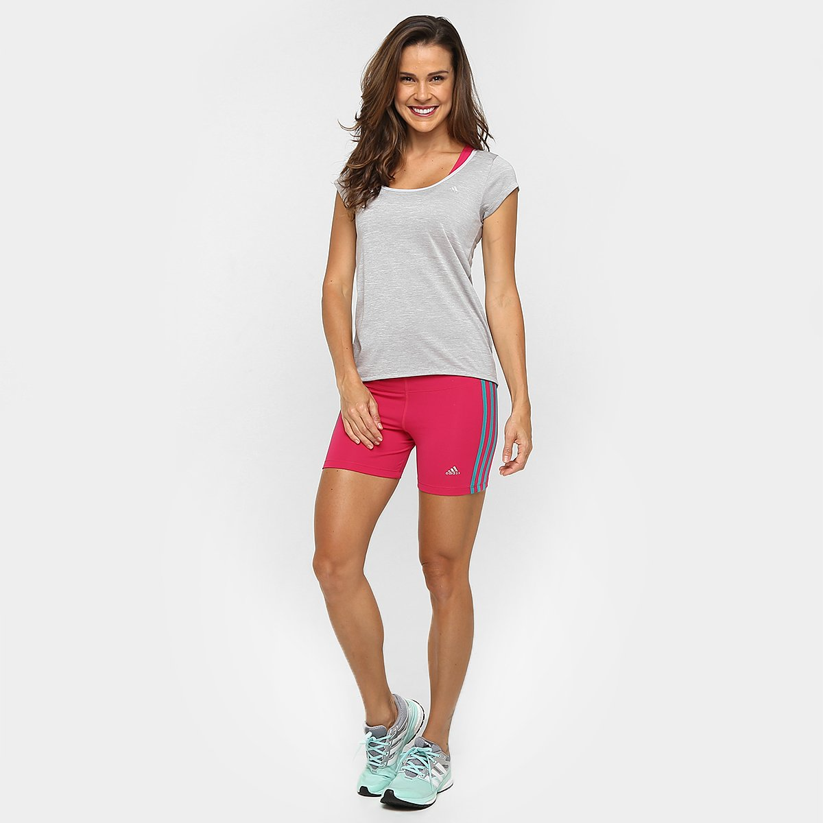 Mescla Camiseta Adidas Feminina Ess Clima Cinza Camiseta Adidas wZXqdOO