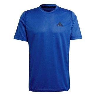Camiseta Adidas Essentials Perf Logo Azul Masculino