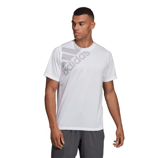 Camiseta Adidas Freelift Badge of Sport Masculina - Branco