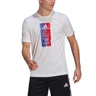 Camiseta Adidas Gráfica Prime Blue Masculina