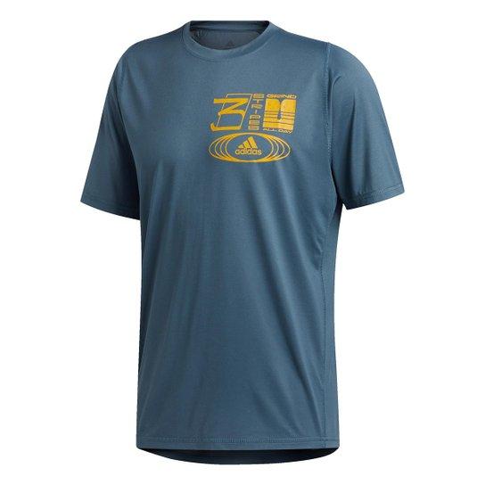 Camiseta Adidas Grind All Day Masculina - Azul