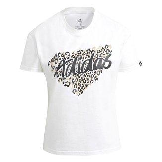 Camiseta Adidas Leopard Branco Feminino
