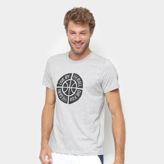 Camiseta Adidas Live By The Ball Masculina - Cinza