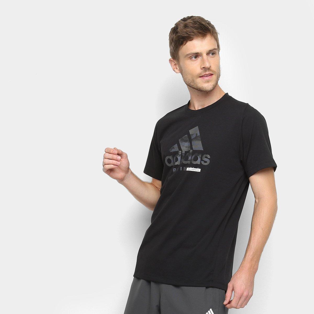 1b3debc53b54f Camiseta Adidas Logo FreeLift 360 Masculina - Preto - Compre Agora ...