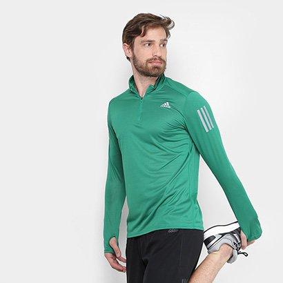 Camiseta Adidas Manga Longa Rs Ls Zip Masculina