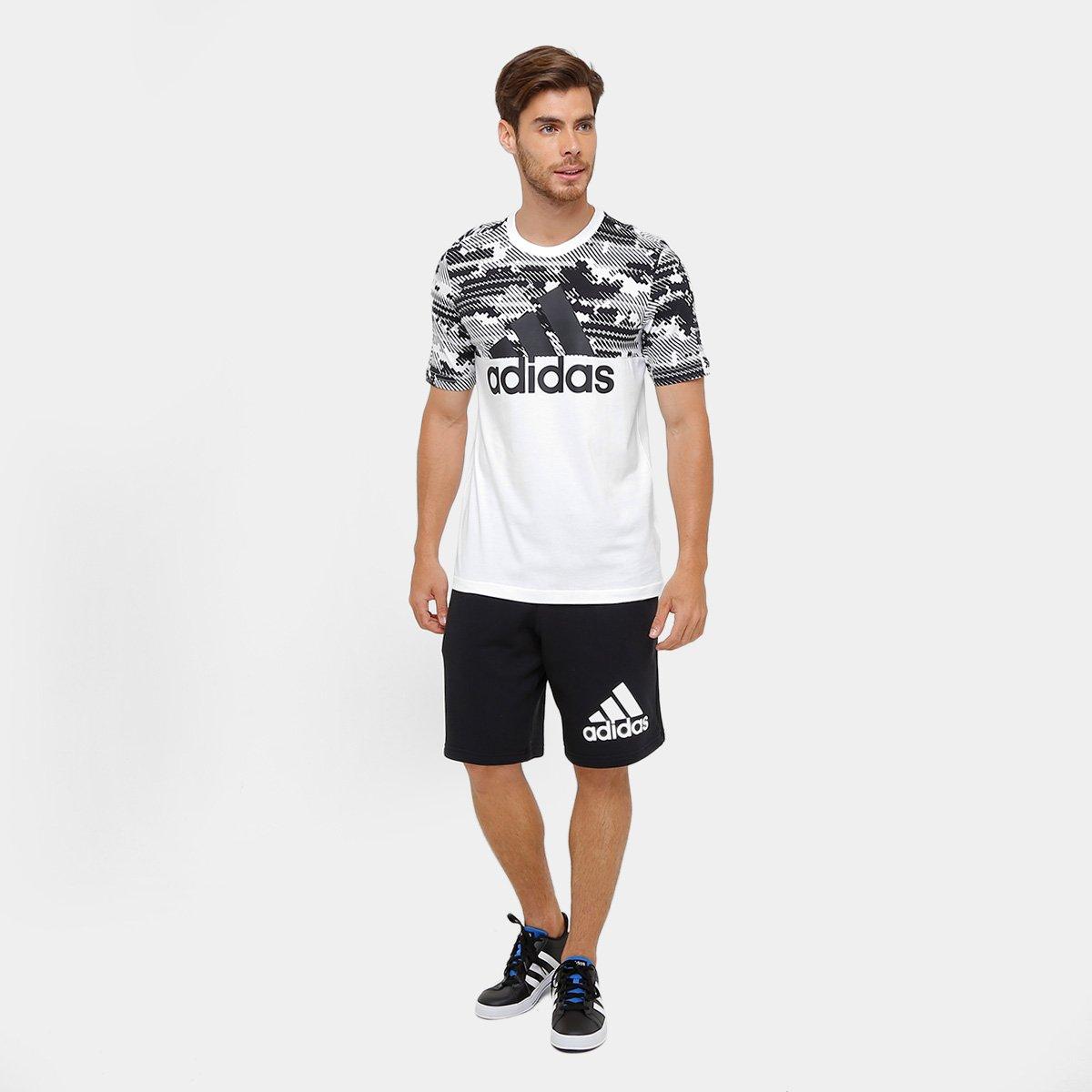 c651fee497 Camiseta Adidas Mc Ess Aop Masculina - Compre Agora