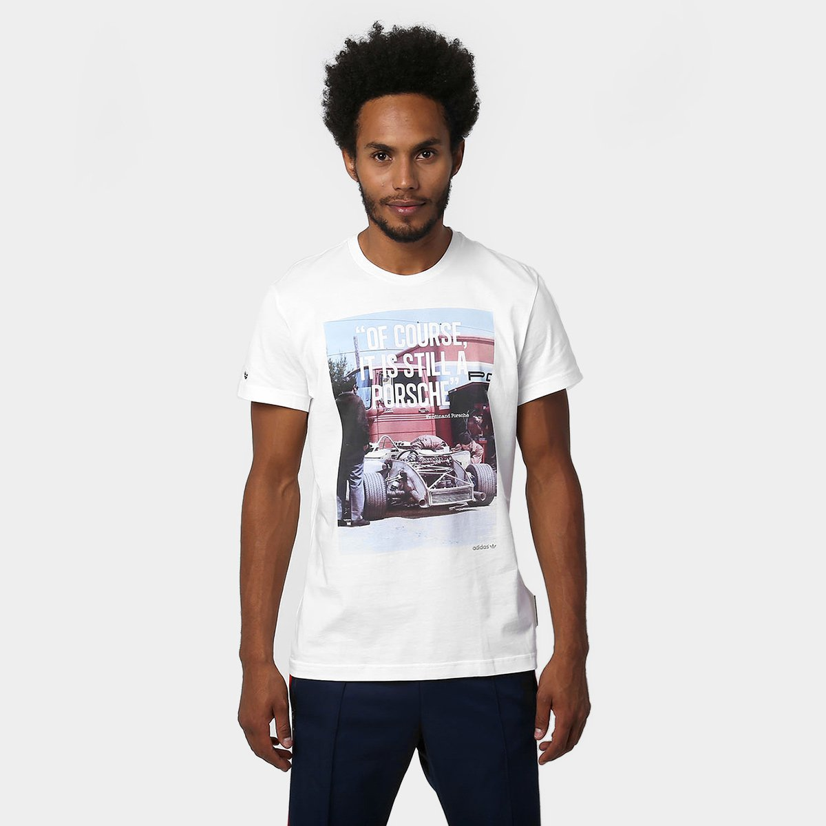 T Of Course Porsche Branco Camiseta Originals Adidas yIYv7gf6b