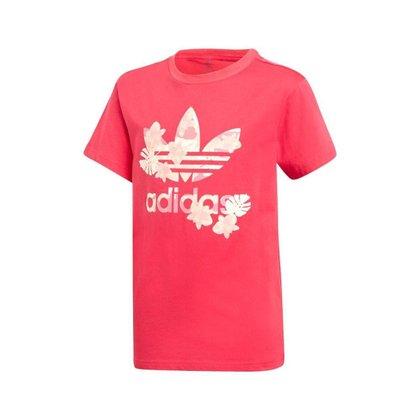 Camiseta Adidas Originals Rosa Junior