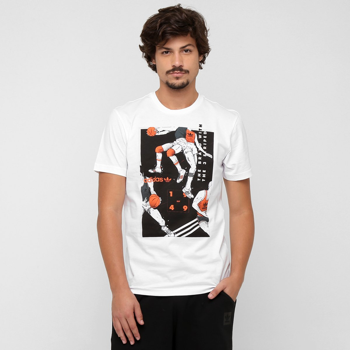 Camiseta Adidas Originals Tongue Basketball - Compre Agora  e9a103b058ceb