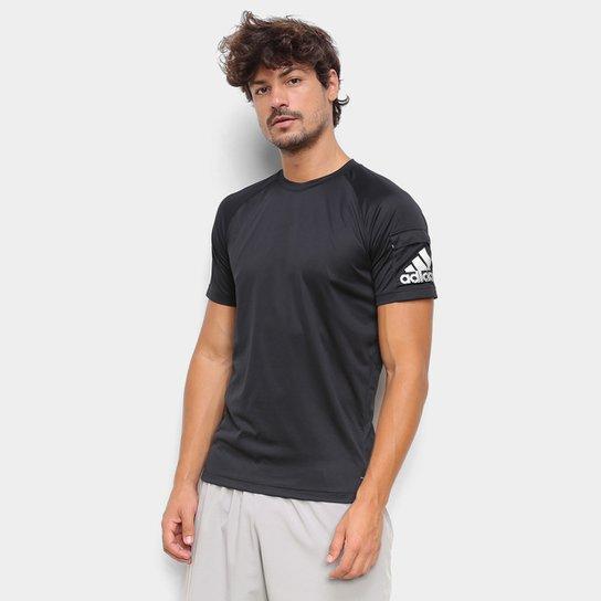 Camiseta Adidas Performance D2M Innovation Masculina - Preto+Branco