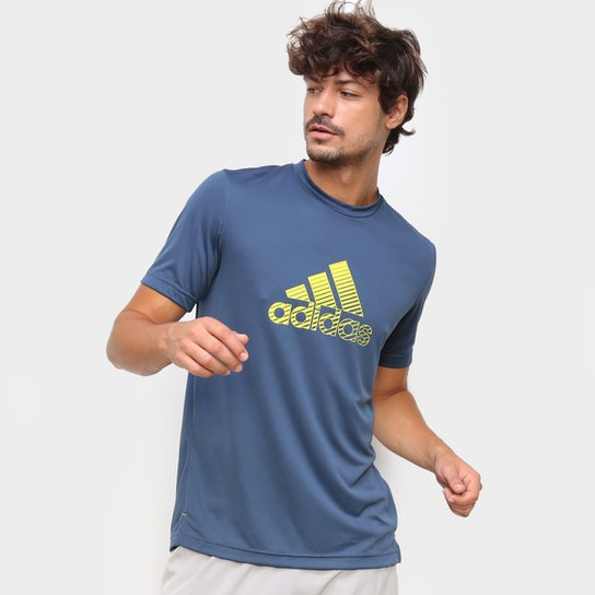 Camiseta Adidas Performance D2M Innovation Masculina - Azul+Marinho