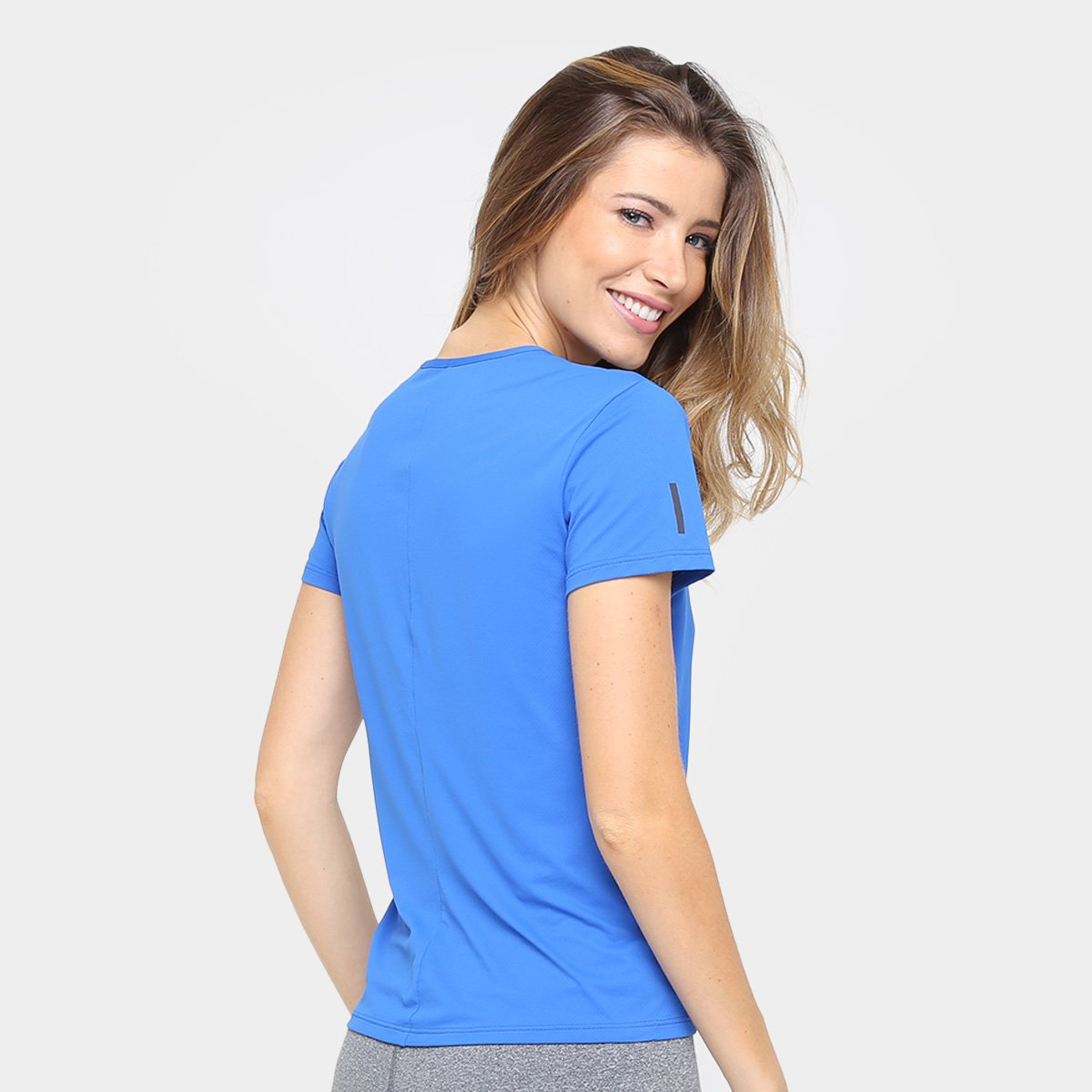 Feminina Camiseta Camiseta Azul Response Adidas Poliamida Adidas wPg5qv5