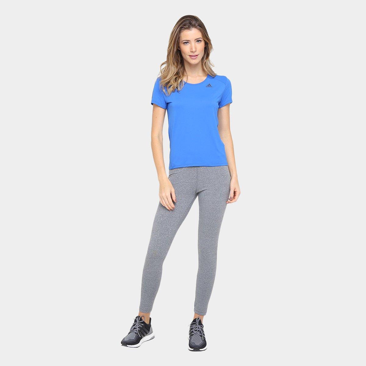 Camiseta Camiseta Adidas Feminina Azul Adidas Response Poliamida 11qHSTn5