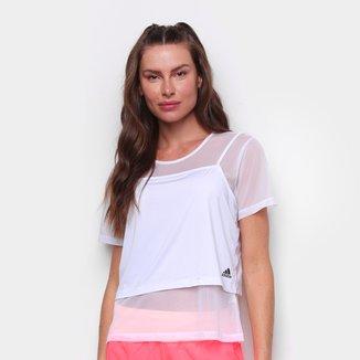 Camiseta Adidas Power 2 em 1 Feminina