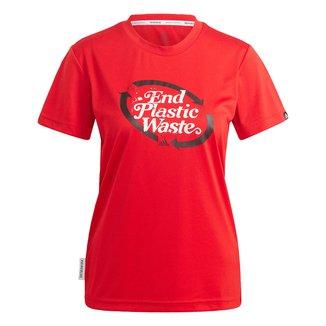 Camiseta Adidas Prime Blue Logo Feminina