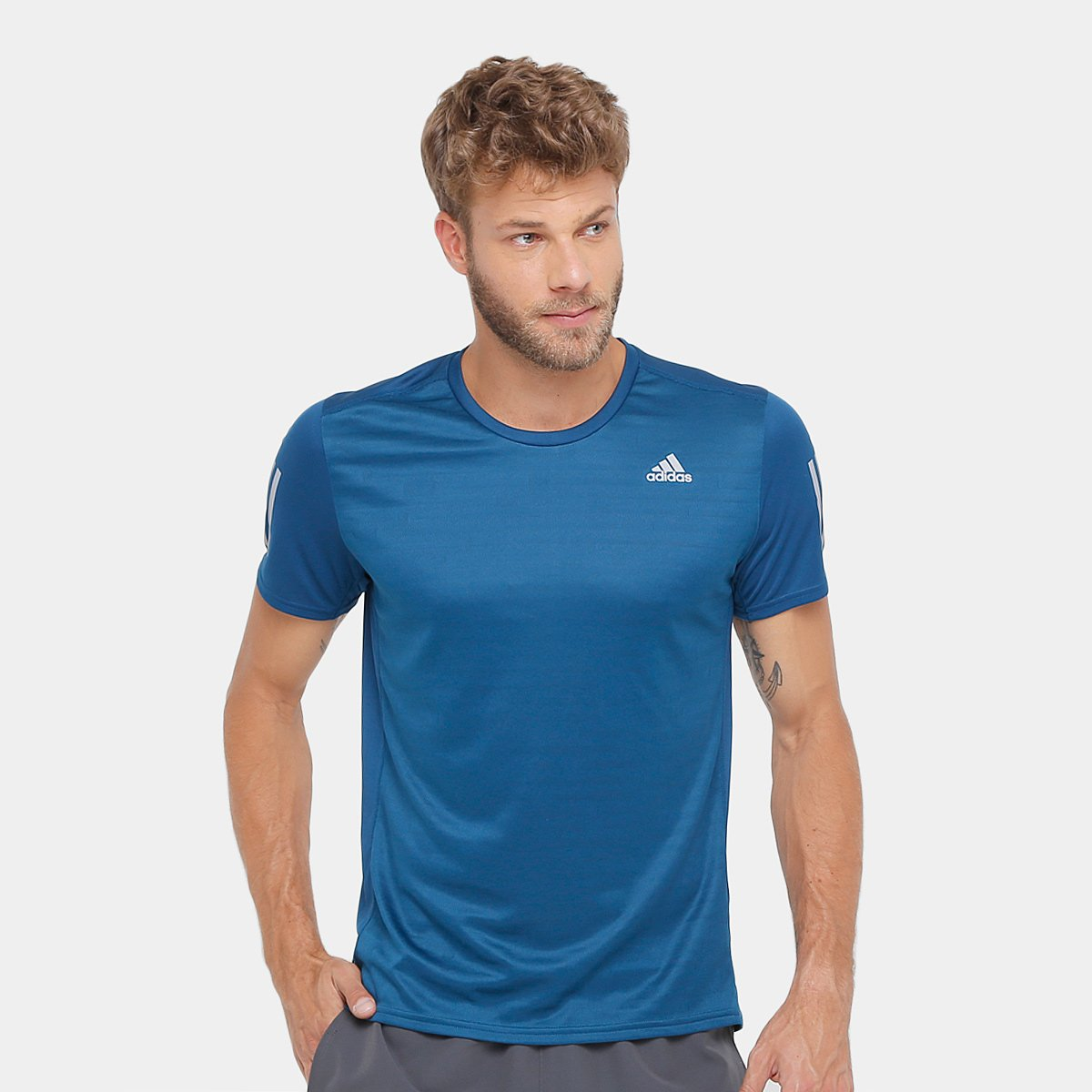 d0d191276220a Camiseta Adidas Response ClimaCool Masculina - Azul Escuro - Compre Agora