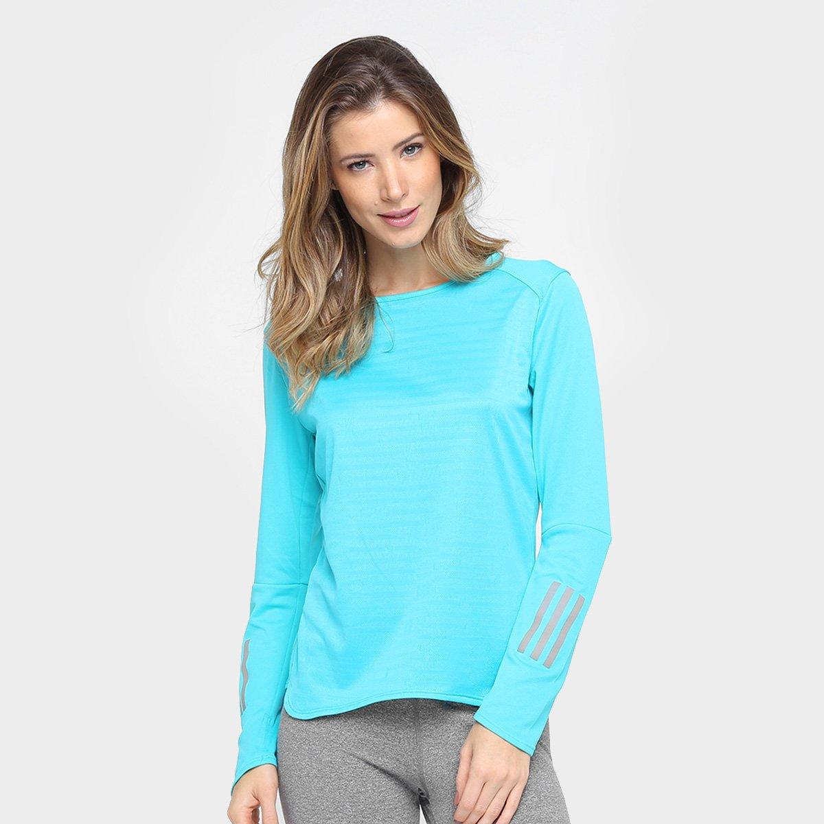 f9e5f7a0a1e1a Camiseta Adidas Response Manga Longa Feminina - Compre Agora