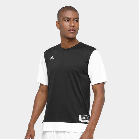 Camiseta Adidas Teamstock Shoot Masculina - Preto