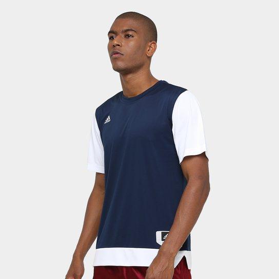Camiseta Adidas Teamstock Shoot Masculina - Marinho