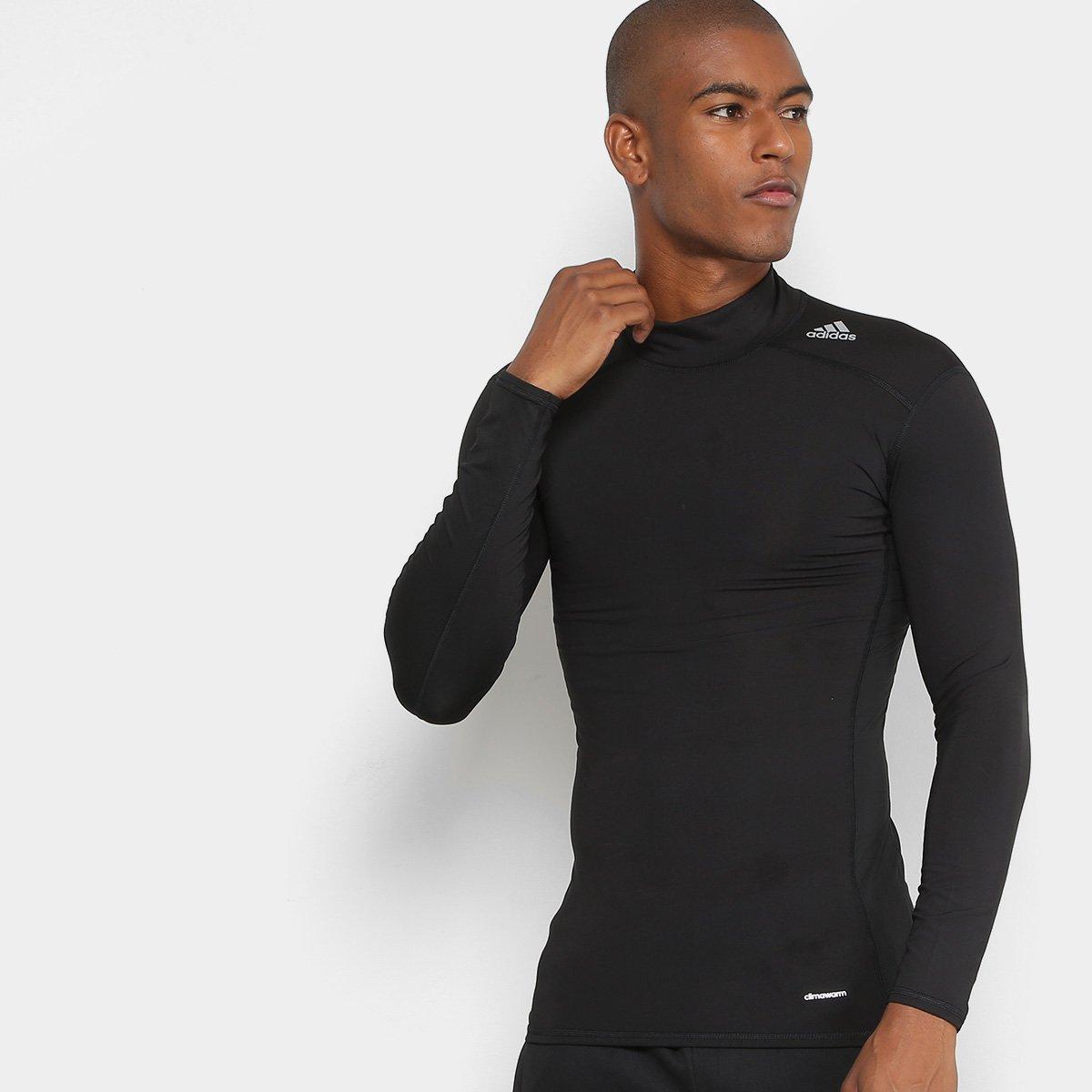 ba6a559a95 Camiseta Adidas Techfit Base Warm Mock Manga Longa - Compre Agora ...