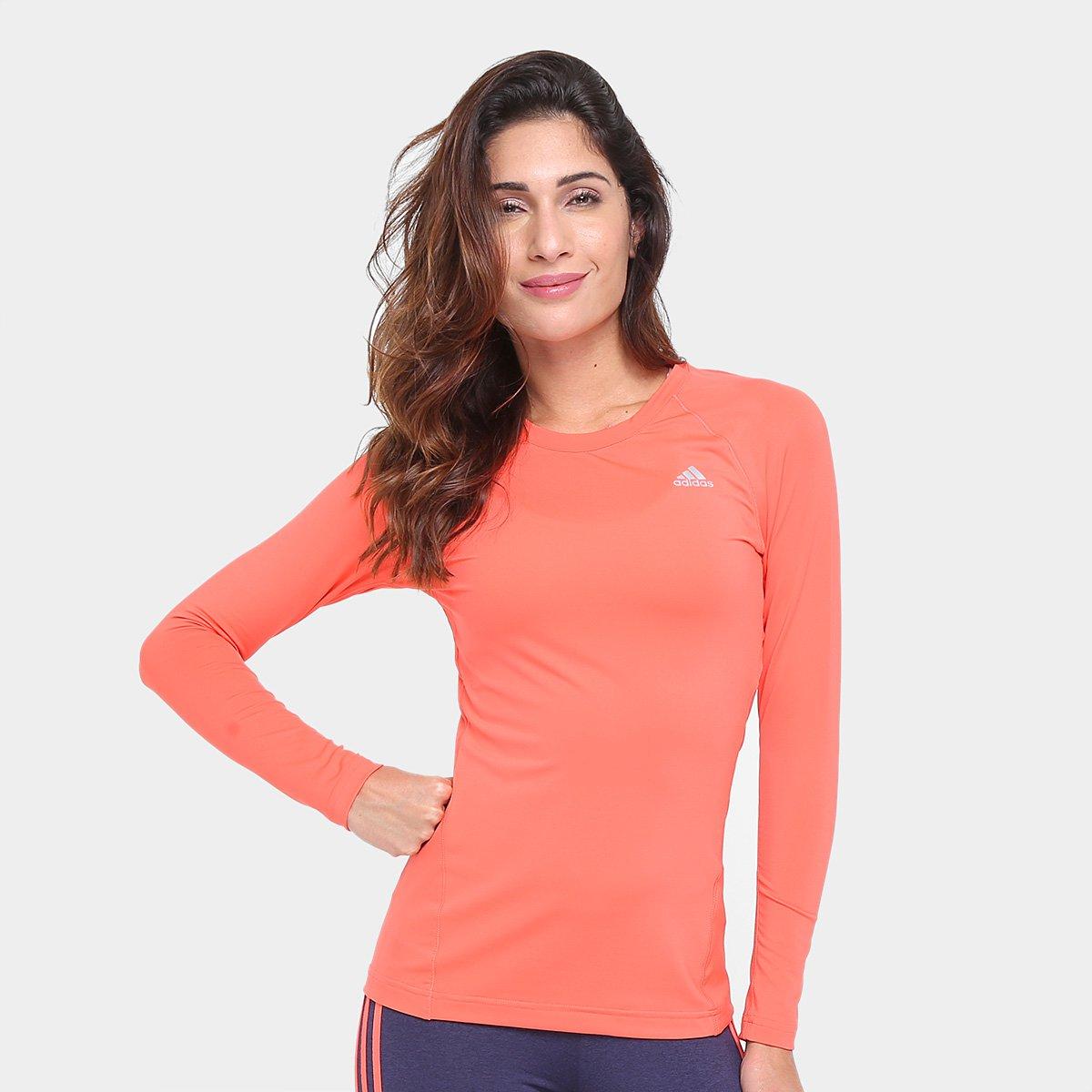65013f7226 Camiseta Adidas Techfit Manga Longa Feminina - Compre Agora