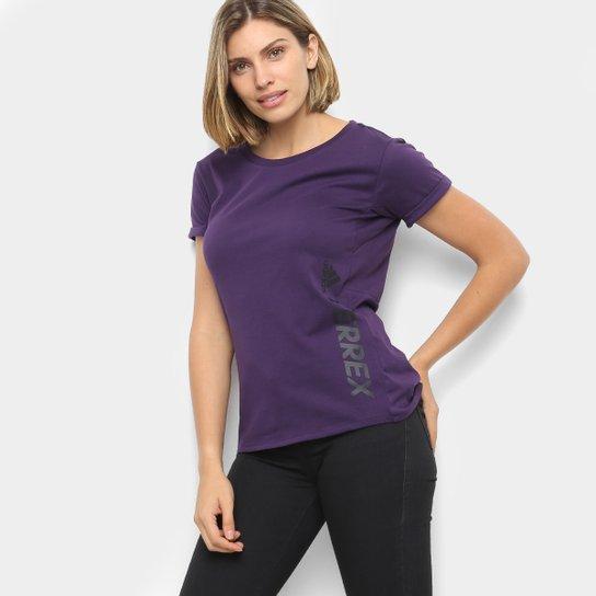 Camiseta Adidas Terrex Logo Feminina - Roxo