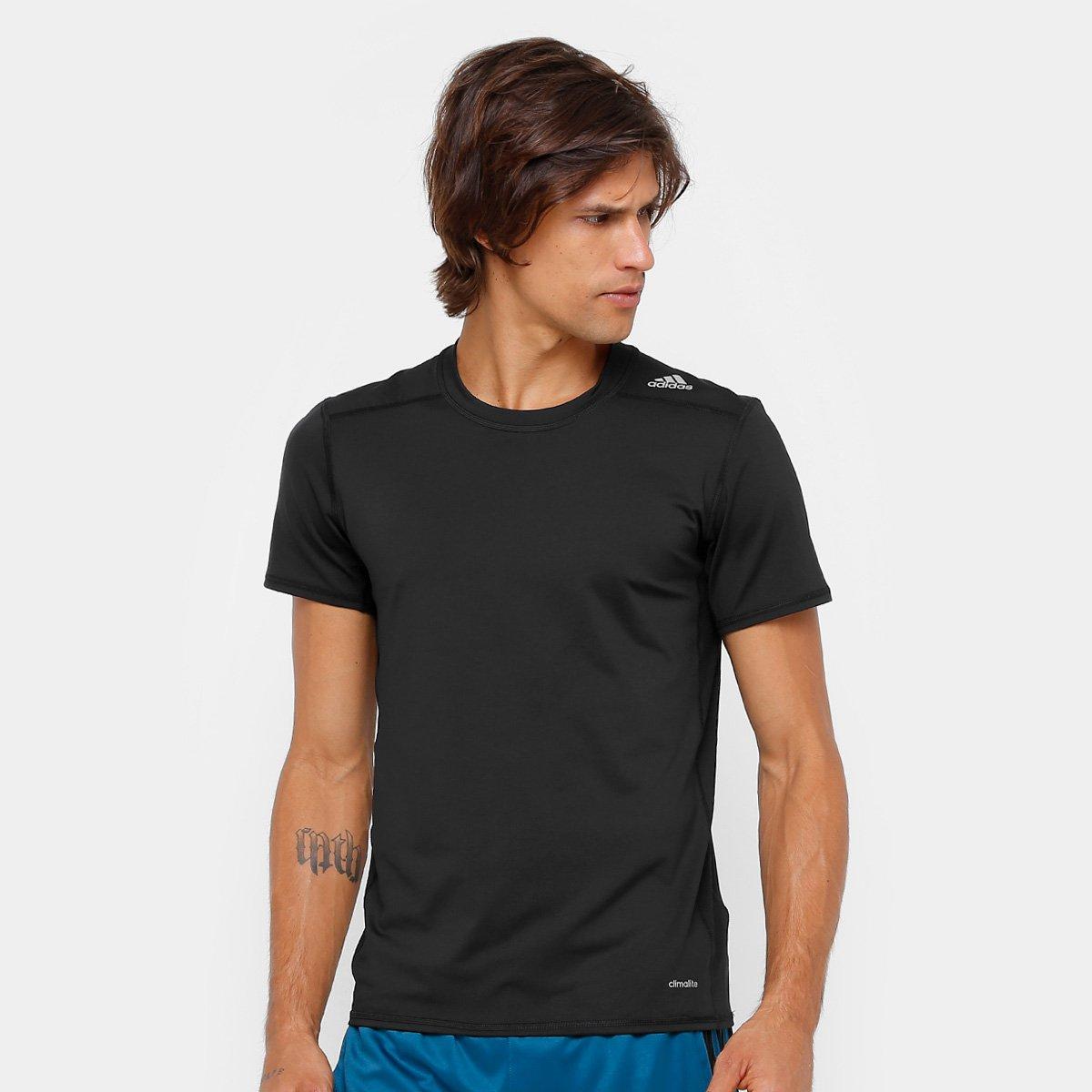 c230ee7232499 Camiseta Adidas Tf Base Fitted M Masculino - Preto - Compre Agora ...