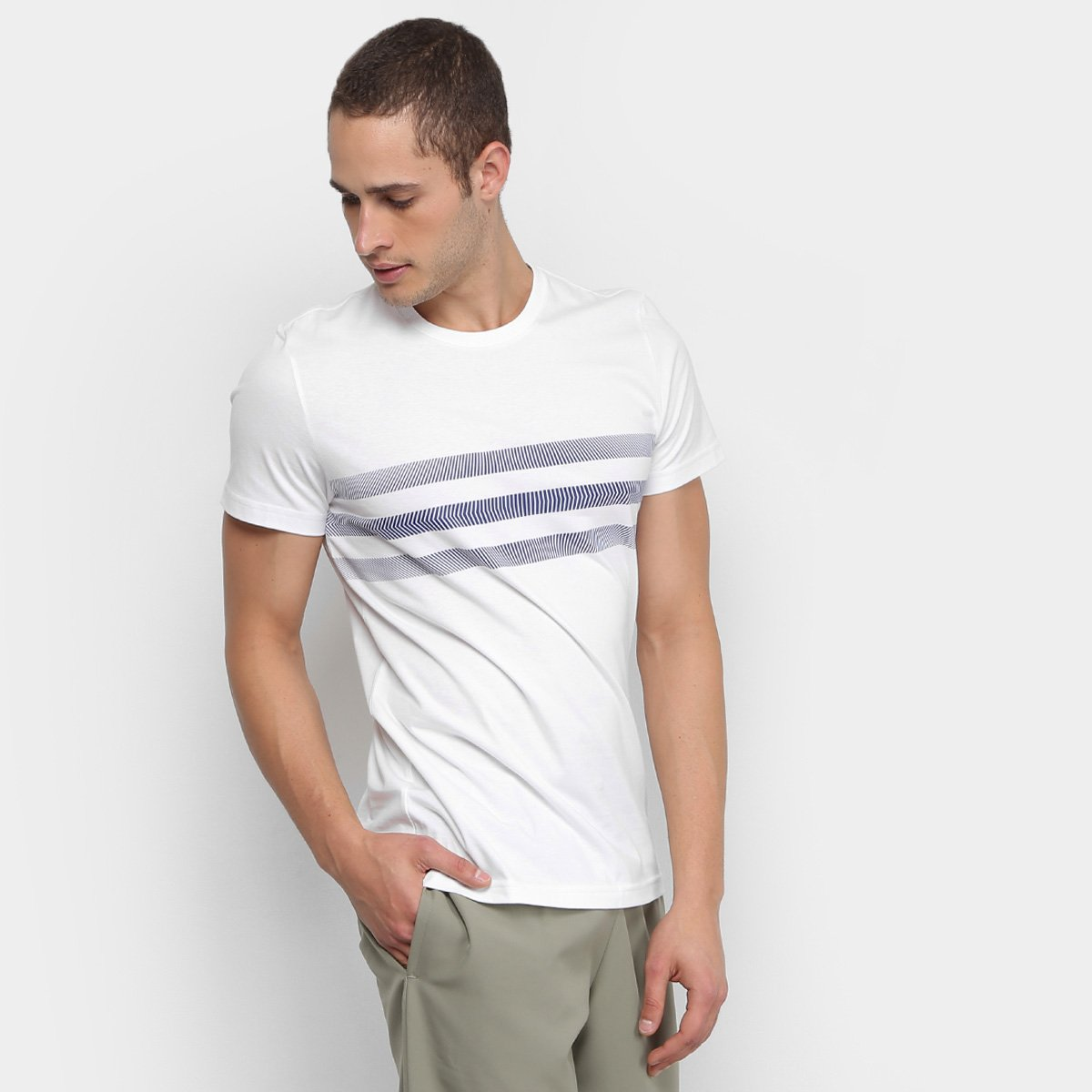 Camiseta Adidas Three Stripes Masculina - Compre Agora  e564135b7c7