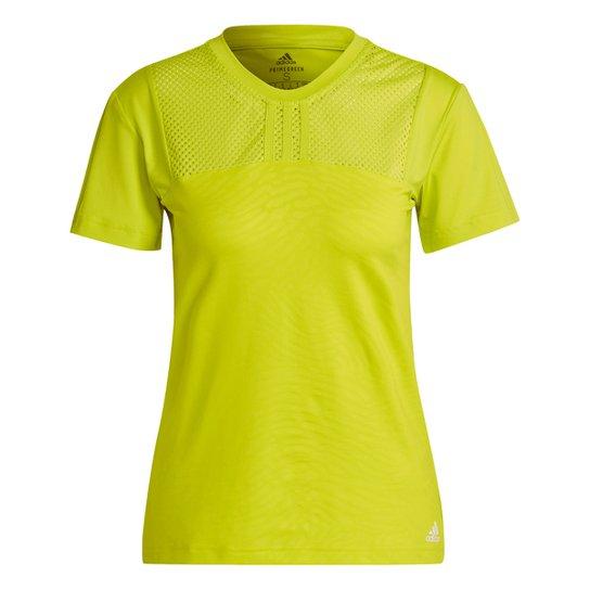 Camiseta Adidas U4U Performance Feminina - Amarelo
