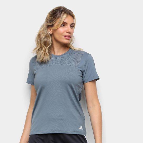 Camiseta Adidas U4U Performance Feminina - Azul+Marinho