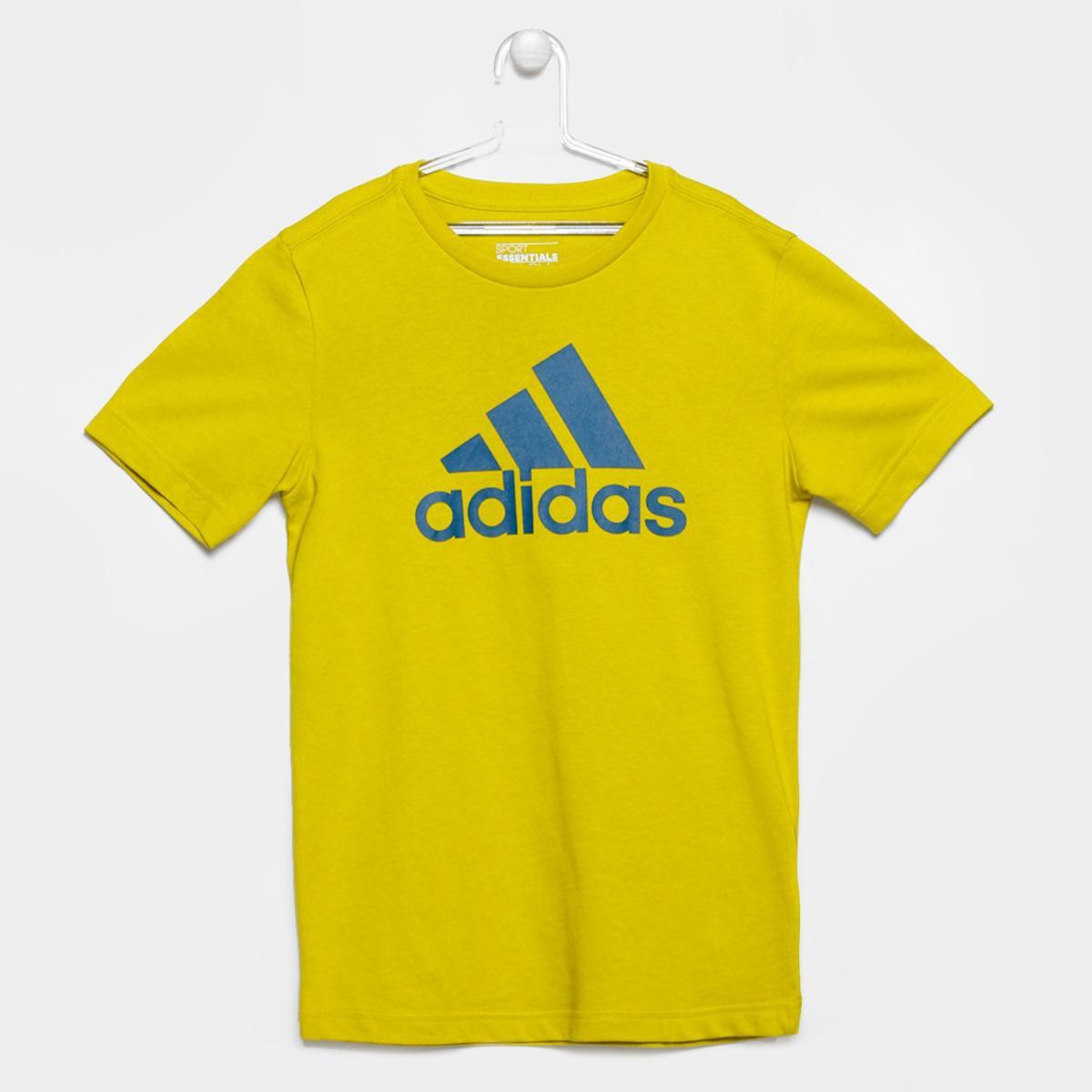 fb1e55a537cdd Camiseta Adidas YB ESS Logo Infantil - Compre Agora