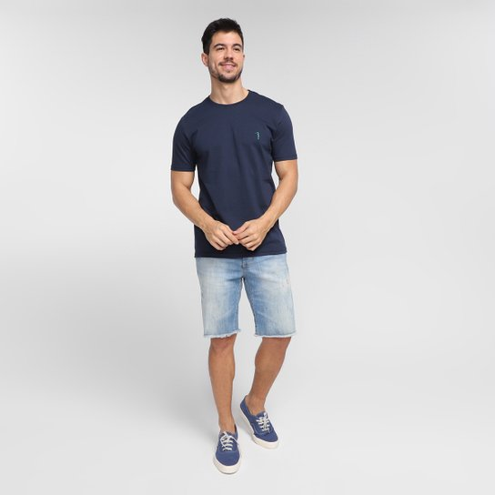 Camiseta Aleatory Básica Masculina - Marinho