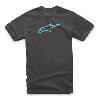 Camiseta Alpinestars Ageless Classic Azul Marinho/Laranja - M