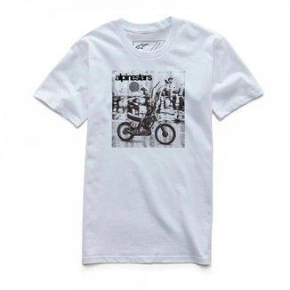 Camiseta Alpinestars Stunt Masculino Branco
