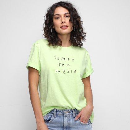 Camiseta Animale Tempo Tem Poesia Feminina