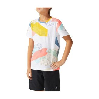 Camiseta ASICS All Over Print - Infantil - Branca - tam: M Asics