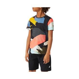 Camiseta ASICS All Over Print - Infantil - Preta - tam: M Asics