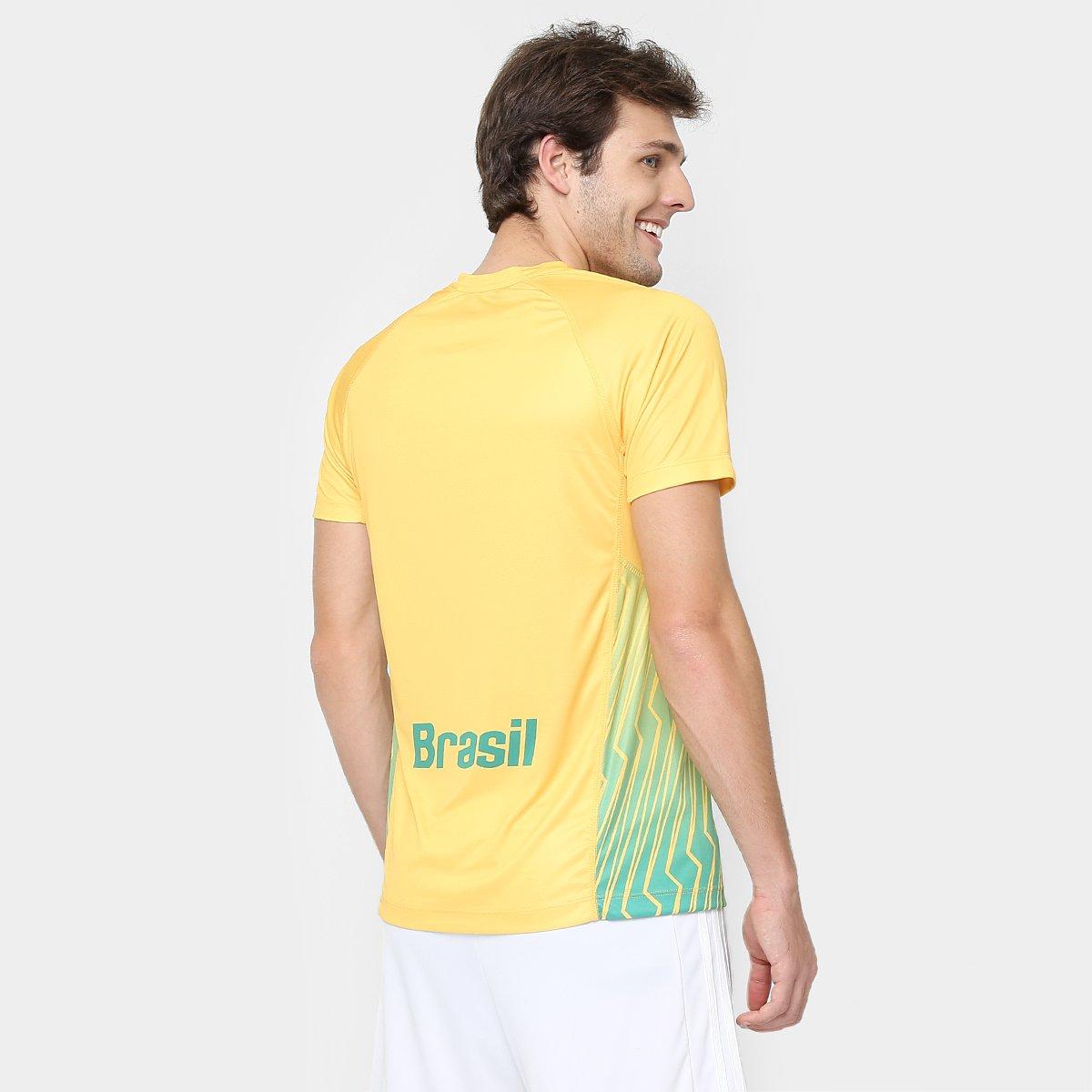 3f63fe957c Camiseta Asics Brasil de Jogo Handebol Masculina - Compre Agora ...