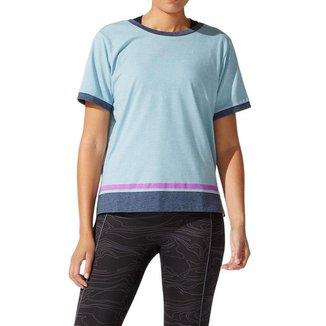 Camiseta ASICS Color Block - Azul - Feminina - tam: M Asics