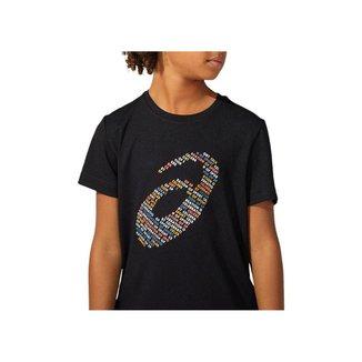 Camiseta ASICS Logo Print - Infantil - Preta - tam: M Asics