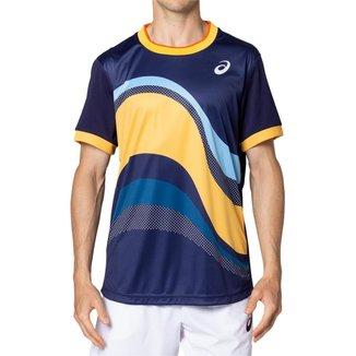 Camiseta ASICS Match GPX - Masculino - Azul Marinho - tam: GG Asics