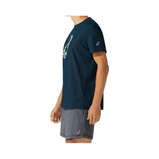 Camiseta ASICS Spiral GPX - Masculino - Azul - tam: M Asics