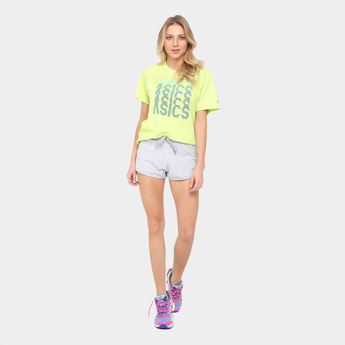 Camiseta Tee Asics Training Masculina Amarelo Ss Asics Camiseta Asics Training Limão AdwCH1q