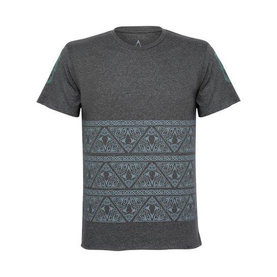 Camiseta Assassin's Creed Nordic Masculina Cinza - Cinza